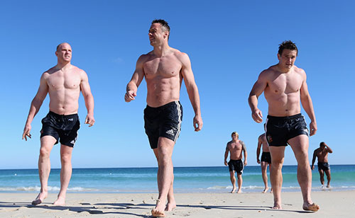 irish men beach