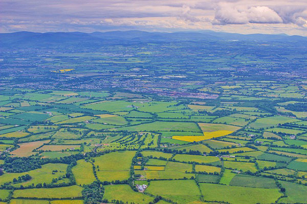 ireland green fields
